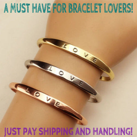 BUY FREE LOVE Bracelet for Women ->> JUST PAY SHIPPING AND HANDLING! Online-Bangles-My Favorite Online Store