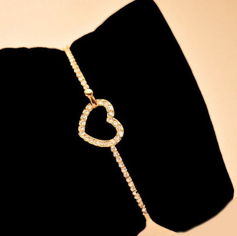 Gold Plated Heart Bracelet FREE -JUST PAY SHIPPING