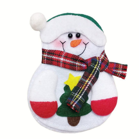 BUY Lovely Snowman Kitchen Tableware Holder 12pcs - Today 50 % OFF Online