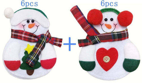 BUY Lovely Snowman Kitchen Tableware Holder 12pcs - Today 50 % OFF Online-Kitchen Decorations-My Favorite Online Store