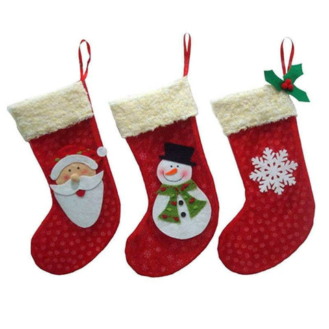 BUY Mini Santa Claus Socks 3 Pieces Set - Today 66% OFF Online-Stockings & Gift Holders-My Favorite Online Store