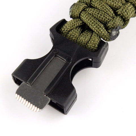 BUY Survival Camping Bracelet Paracord Flint Fire Starter Scraper Whistle->FREE->JUST PAY SHIPPING! Online-Travel Kits-My Favorite Online Store