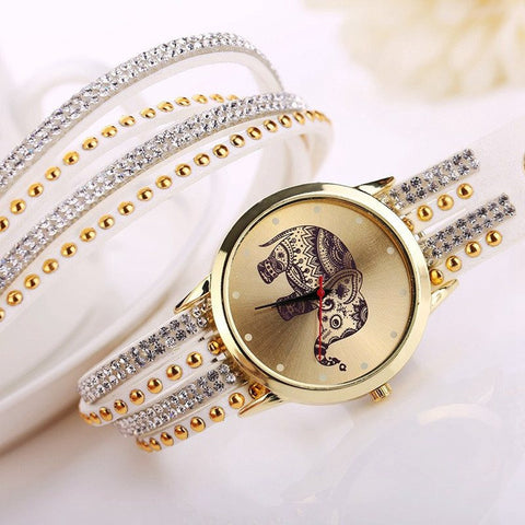 BUY Trendy Elephant Bracelet Watch!