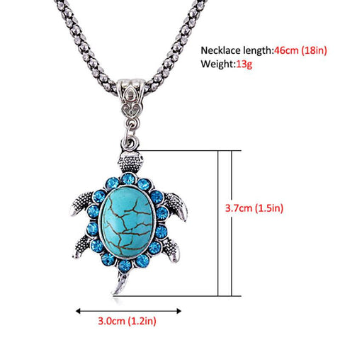 BUY Turtle Necklace with Natural Stone 50% OFF + FREE SHIPPING! Online-Anhänger Halsketten-My Favorite Online Store