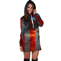 American Space Flag Hoodie Dress