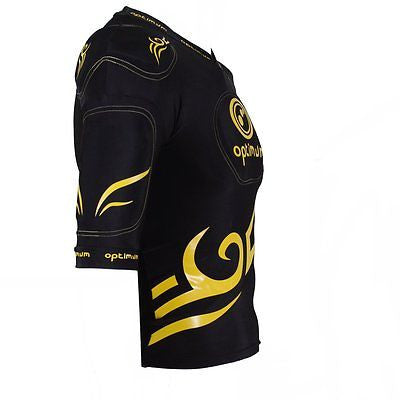 Optimum Five Pad Tribal Long Rugby Body Armour Black