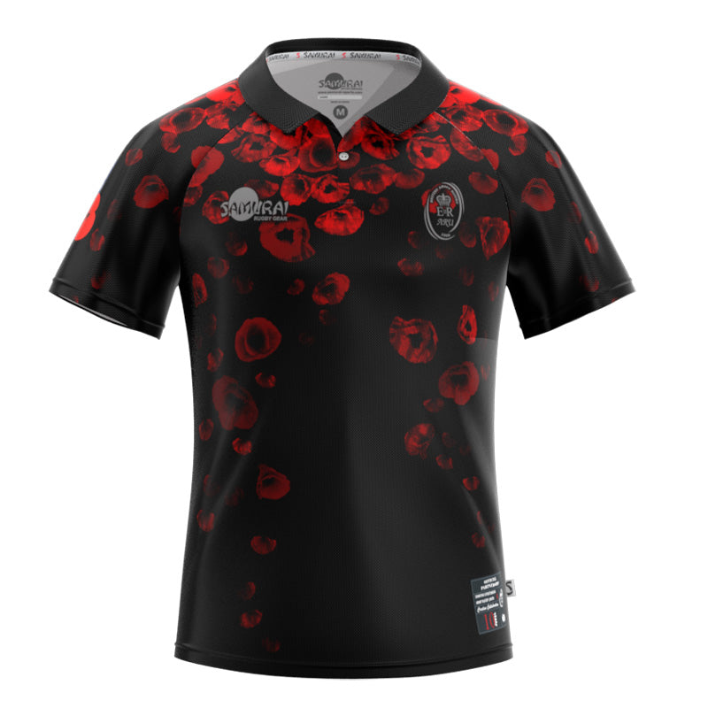 Army Rugby Union   2019 10th Poppy   Remembrance Shirt by Samurai