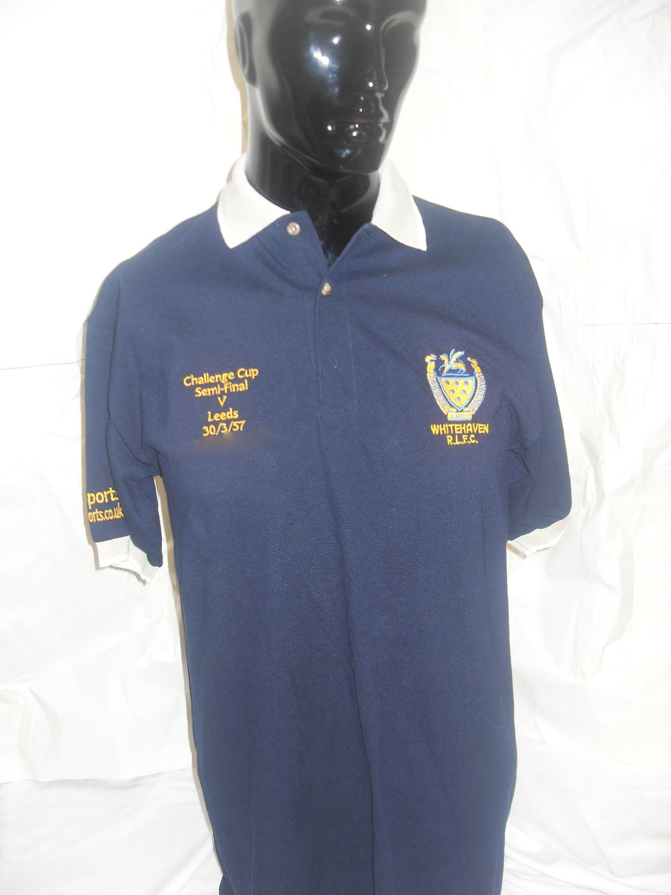 Whitehaven Rugby League Supporters  Trust Challenge Cup 60th Anniversary Polo shirt