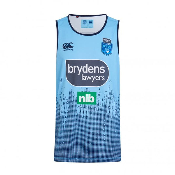 New South Wales  Rugby League  Mens Evo Training Singlet