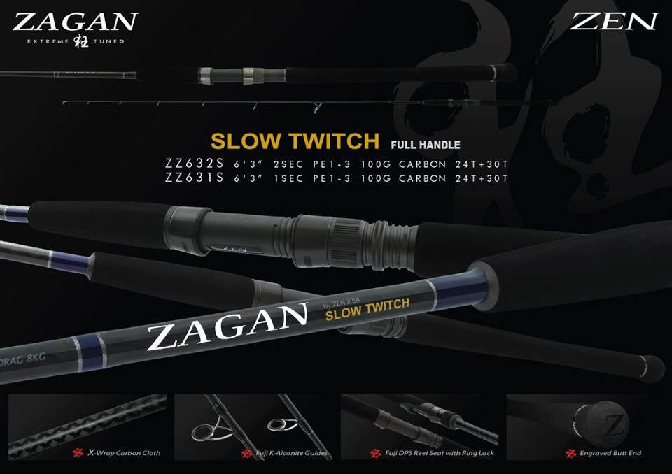 Zen Zagan Slow Twitch Full Handle Rod 1-PC - Nalno.com Outdoor Equipment - 1