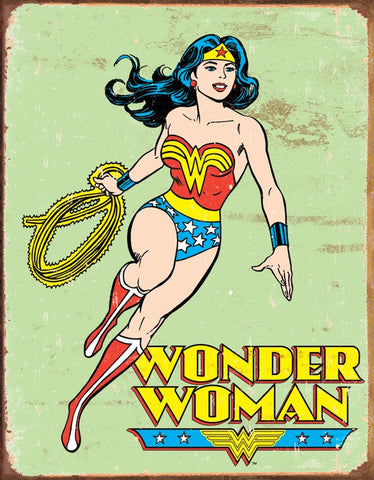 Wonder Woman Retro Tin Sign