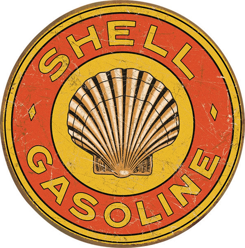 Shell Gasoline Round Tin Sign