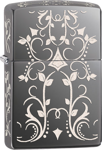 Zippo Filigree on Black Ice
