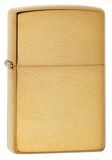 Zippo Classic Brushed Brass Lighter - Nalno.com Outdoor Equipment