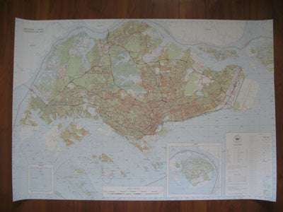 1:50000 Topographic Map - Singapore - Nalno.com Outdoor Equipment