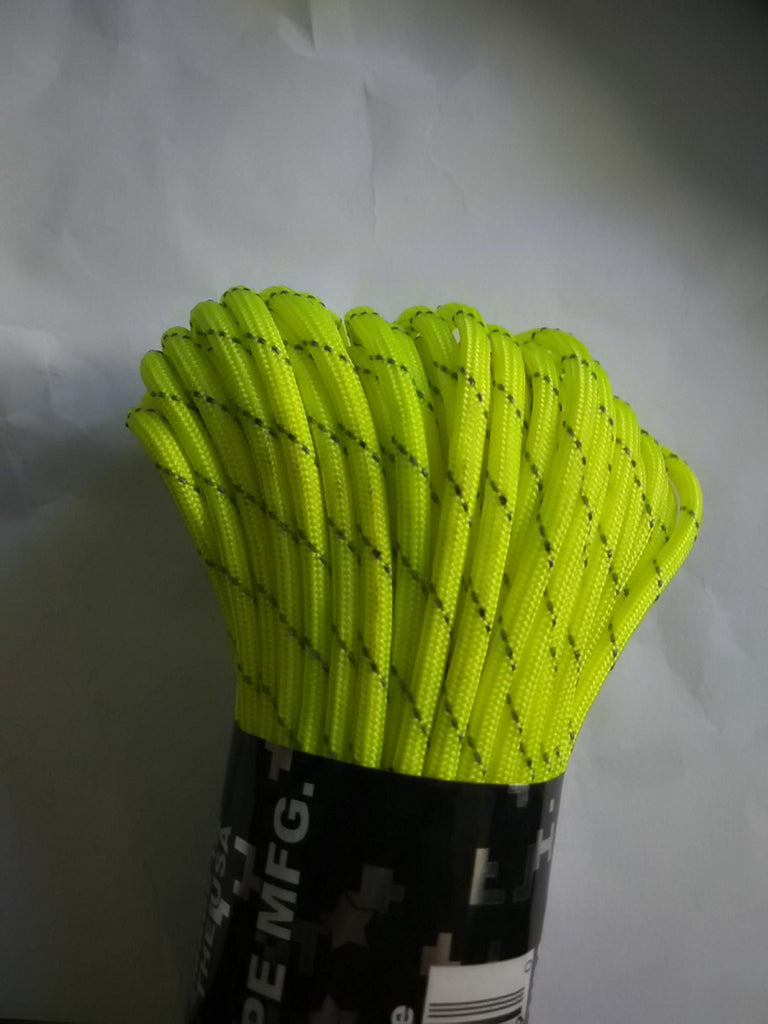 Reflective Neon Yellow Paracord  on Nalno.com Outdoor Equipment - 1