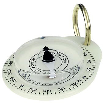 Brunton Glow-in-the-Dark Key Ring Compass - Nalno.com Outdoor Equipment