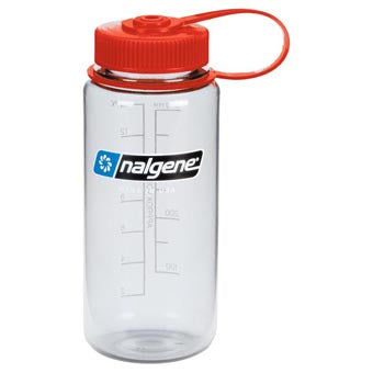 Nalgene 500ml Wide Mouth Clear w Red Cap