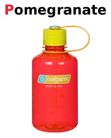 Nalgene 500ml Narrow Mouth Pomegranate Water Bottle