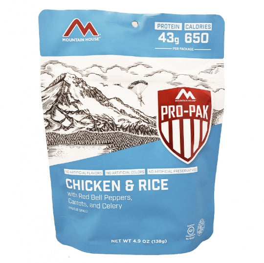 Mountain House Rice & Chicken Pro-Pack Freeze Dried Meal