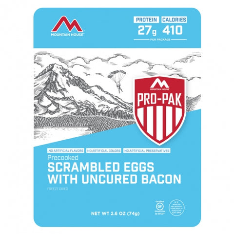Mountain House Scrambled Eggs with Bacon Freeze Dried Meal