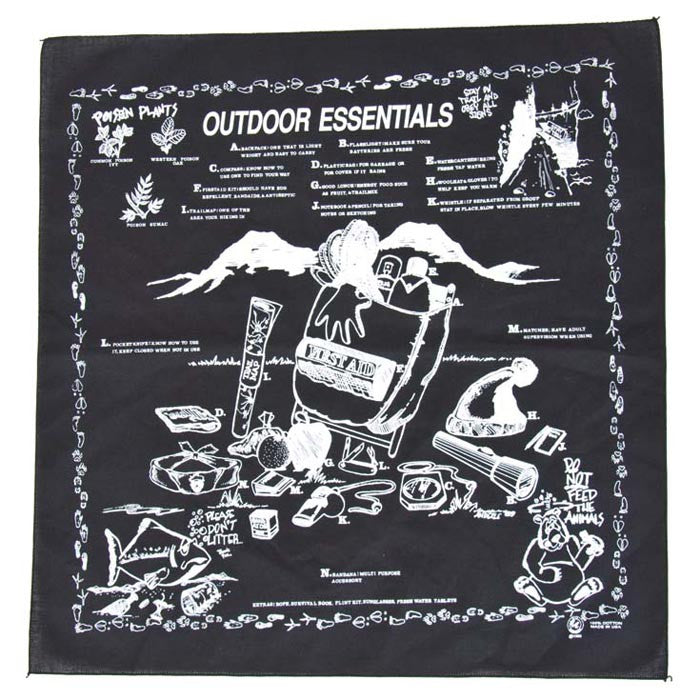 Carolina Mfg Outdoor Essentials Bandana - Nalno.com Outdoor Equipment