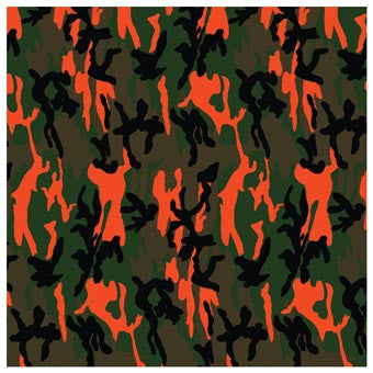 Carolina MFG Camo Neon Orange Bandana