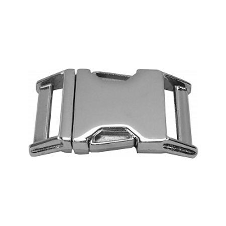 "5/8"" Polished Chrome Side Release Buckle - Nalno.com Outdoor Equipment"