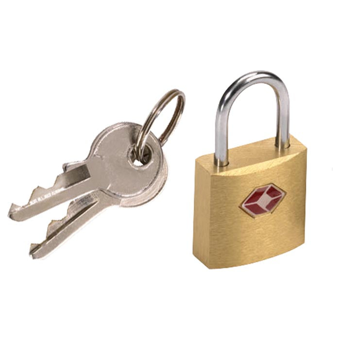 Lewis N. Clark Travel Sentry Mini Brass Padlock