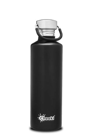 Cheeki Steel Non Insulated Water Bottles 750ml & 1l Classic Range