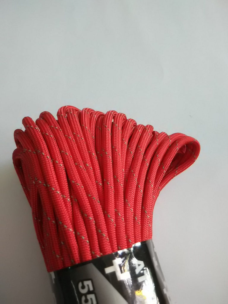 Reflective Red Paracord - Nalno.com Outdoor Equipment - 1