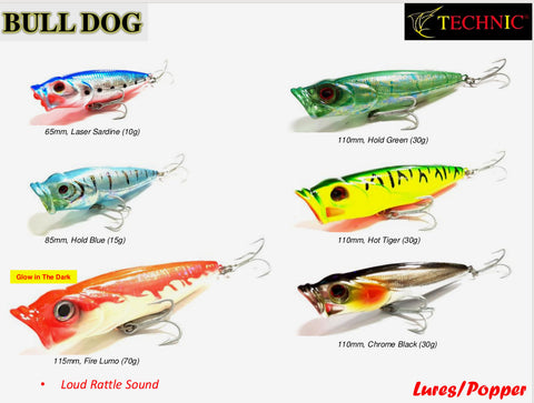 Technic Bull Dog Popper Lures