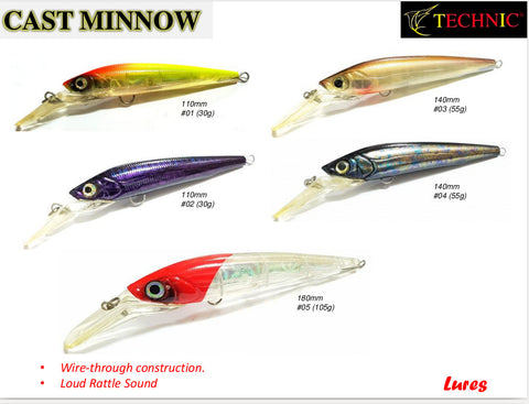Technic Cast Minnow Lures
