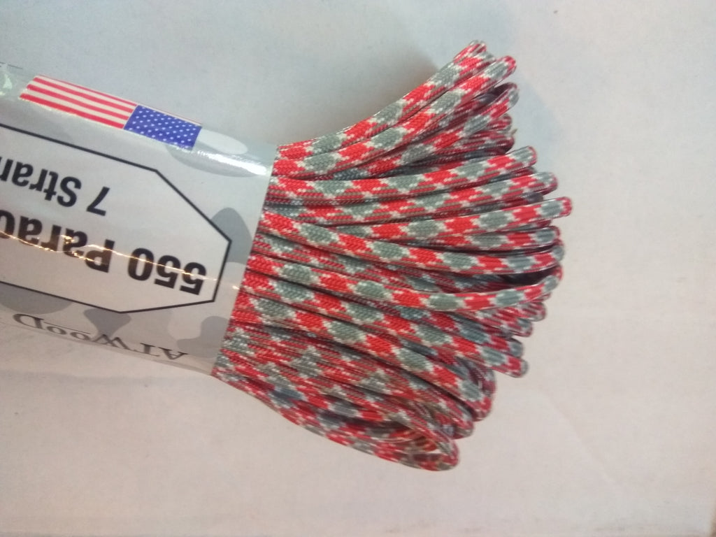 Scarlet & Grey Paracord