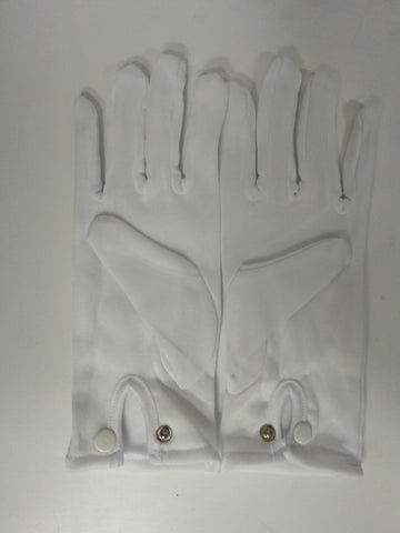 White Marching Gloves