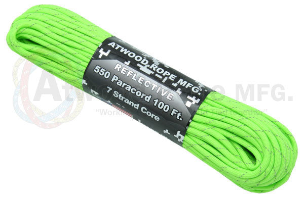 Reflective Neon Green Paracord - Nalno.com Outdoor Equipment - 1