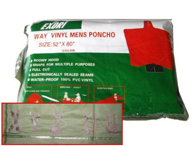 Vinyl Poncho - Nalno.com Outdoor Equipment