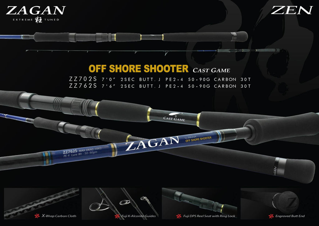 Zen Zagan OffShore Shooter Spinning Rod Butt Joint 2-Pc