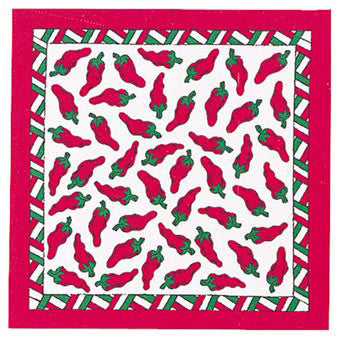 Carolina Mfg Chili Peppers Bandana - Nalno.com Outdoor Equipment
