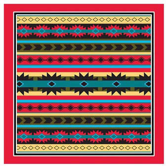 Carolina Mfg Southwest Argyle Bandana - Nalno.com Outdoor Equipment