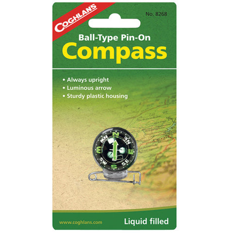 Coghlans Pin-On Ball Compass - Nalno.com Outdoor Equipment