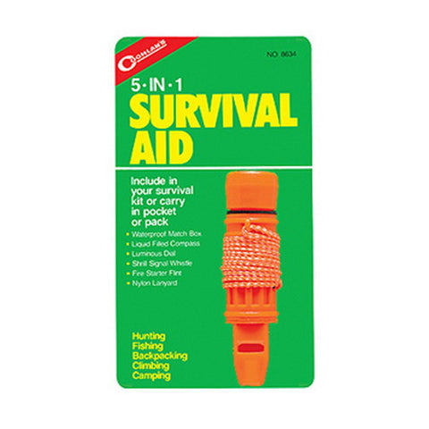 Coghlans 5-in-1 Survival Aid Kit - Nalno.com Outdoor Equipment