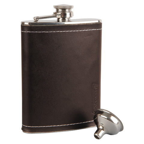 Coleman 240ml Flask w Leather Cover