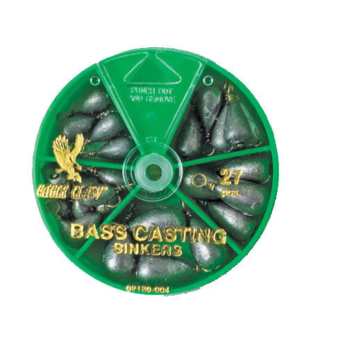 Eagle Claw Bass Casting Sinker 27 pcs asst - Nalno.com Outdoor Equipment