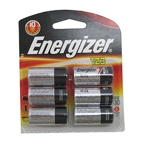 Energizer 123 Lithium 6 Pack - Nalno.com Outdoor Equipment