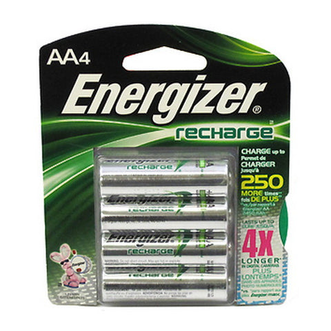 Energizer NiMH Rechargeable AA (4 Pc) - Nalno.com Outdoor Equipment