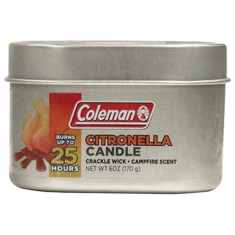 Coleman Citronella Candle Tin - 25 hours burn time