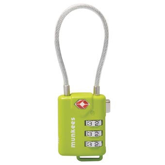 Munkees TSA Cable Combo Lock - Nalno.com Outdoor Equipment