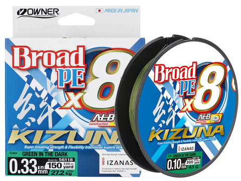 Owner Kizuna Broad PE X8 Braided Line Green
