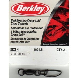 Berkley Ball Bearing Cross-Lok Snap/Swivels - Nalno.com Outdoor Equipment